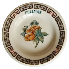 "Vintage Pullman Railroad China ""Indian Tree"" Butter Pat"