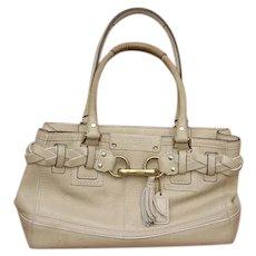 Beautiful in Beige Designer Coach Handbag Handled Purse Pocketbook