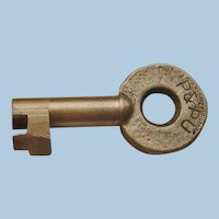 Peoria & Pekun Union Railway Railroad Brass Key