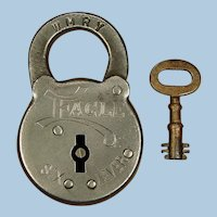 Exceptional Western Maryland Railway Railroad Steel Six-Lever Utility Lock with Key