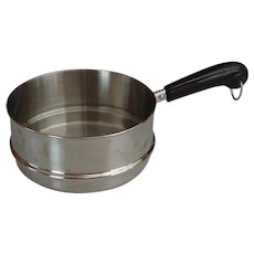 Vintage Revere Ware RARE Double Boiler Stainless Steel Top Pan