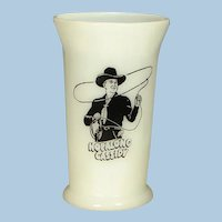 "Hopalong Cassidy ""Hoppy says"" Motto Child's Breakfast Milk Glass Tumbler"