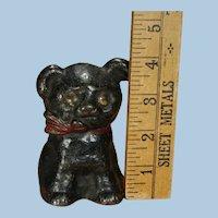Adorable Small Pat'd. 1914 Hubley Cast Iron Cutie Pup Dog Still Bank