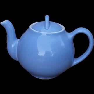 Fabulous Early Hall China Cadet Blue French Style Tea Pot Teapot
