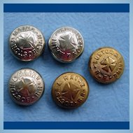 FIVE Boston & Maine Railroad Uniform Button Covers