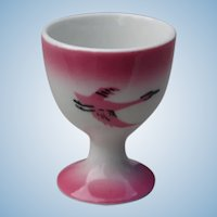 Hard to Find Milwaukee Railroad China Single Pedestal Egg Cup