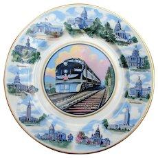 Vintage Missouri Pacific Railroad China State Capitols Service Plate MOPAC  MPRR