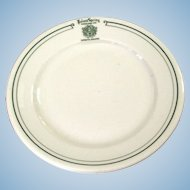 Vintage Pre-1955 Poland Springs Resort Restaurant Ware China Plate Railroad Related