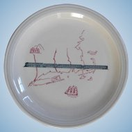 "Vintage New York, New Haven & Hartford Railroad China ""Merchants"" Grill Car Plate"
