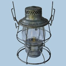 Vintage Southern Railway Cast Tall Globe Adlake Reliable Railroad Lantern