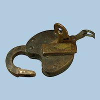 Maine Central Railroad Brass Switch Lock & Key Set by Slaymaker