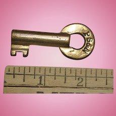 Vintage PS&N Railroad Brass Switch Key Pittsburg Shawmut & Northern
