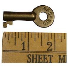 """Santa Fe Railway Railroad Brass AT-SFRYD """"Derail"""" Key"""