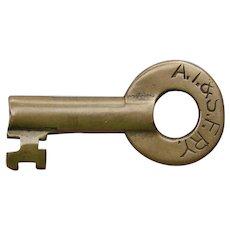 AT&SFRY Santa Fe Railway Railroad Brass Switch Key