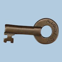 Vintage Santa Fe Railroad Brass Switch Key