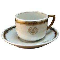 Baltimore & Ohio Railroad Black Capitol Coffee Cup & Saucer Set