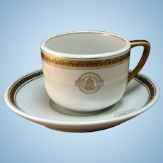 Baltimore & Ohio Railroad Black Capitol Coffee Cup & Saucer Set