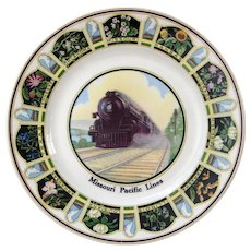 Missouri Pacific Railroad China State Flowers Service Plate