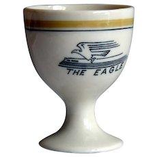 Missouri Pacific Railroad Tiny Eagle Pattern China Single Egg Cup