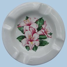 Vintage Greenbrier Hotel Rhododendron Ash Tray by Dorothy Draper