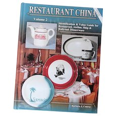 """Restaurant China Volume 2"" (Conroy) Collector Book Identification & Price Guide Commercial Restaurantware Tableware - Scarce"