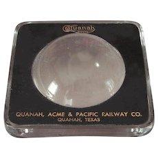 Vintage Vintage Quanah, Acme & Pacific Railway Magnifier QA&P Railroad Desk Magnifying Glass