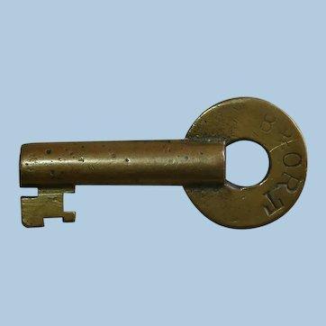 Baltimore & Ohio Railroad Brass Repair Track Key B&ORT