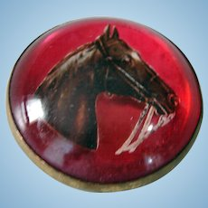 Antique Exquisite Horse Bridle Rosette Victorian  Brooch Pin