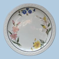 "Vintage Southern Pacific Railroad China ""Prairie Mountain Wildflowers"" Dinner Plate"