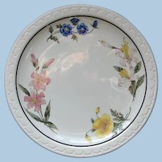 """Vintage Southern Pacific Railroad China """"Prairie Mountain Wildflowers"""" Dinner Plate"""
