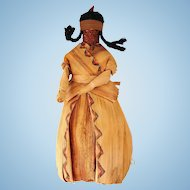 Vintage Native American Corn Husk Cornhusk Indian Doll OOAK Folk Art