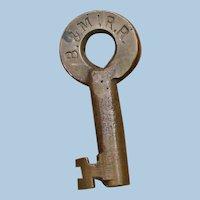 Antique Boston & Maine Railroad Key by Sherburne Boston B&MRR