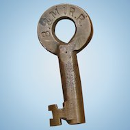 Antique Boston & Maine Railroad Key by Sherburne Boston B&MRR
