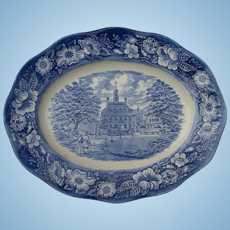 blue staffordshire china