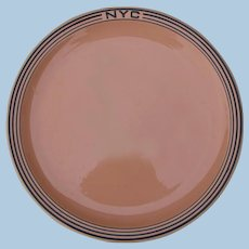 "Vintage New York Central Railroad China ""Mohawk"" Dinner Plate NYCRR"