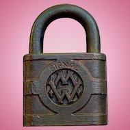Vintage Western Maryland WMRR Brass Yale Signal Lock Padlock