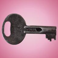 Vintage TStL&WRR Toledo, St Louis & Western Railroad Steel Utility Key