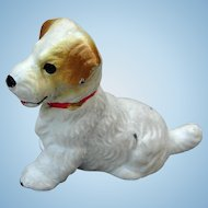 Vintage Hubley Cast Iron Fox Terrier Dog Place Card Holder