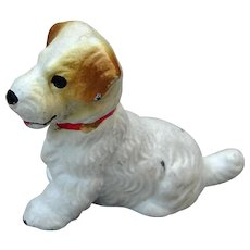 Vintage Hubley Cast Iron Fox Terrier Dog Place Card Holder