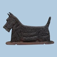 Vintage Cast Iron Scottie Scottish Terrier Dog Double Sided & Versatile: Bootscraper, Doorstop, Sign Topper