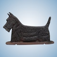 Vintage Cast Iron Scottie Scottish Terrier Dog Double Sided & Versatile: Bootscraper, Doorstop, Sign Topper