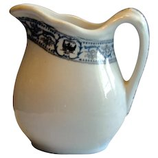 """Vintage Scarce Small 4 inch New York Central Railroad """"DeWitt Clinton"""" China Cream Pitcher NYCRR"""