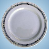 Vintage Pennsylvania Railroad China Purple Laurel Dinner Plate PRR