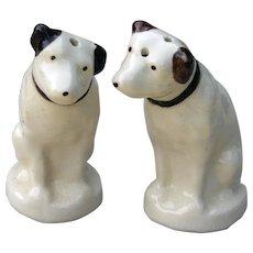 Vintage Nipper RCA Dog China Salt Pepper Shakers