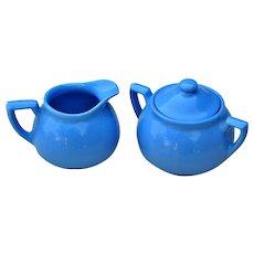 Vintage Hall China Lipton's Tea Cream & Sugar Set PRISTINE Condition