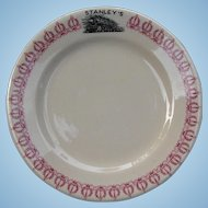 Vintage Texas & Pacific Railroad China Stanley's Bread and Butter Plate Restaurant Ware T&PRR