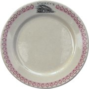 Vintage Texas & Pacific Railroad China Stanley's Restaurant Large Dinner Plate T&PRR