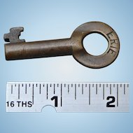 Antique Erie Railroad Brass Switch Key by Fraim