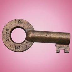 Vintage Pennsylvania Railroad Brass Division Key PRR