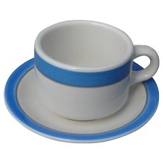 Vintage Railroad China: Amtrak Restaurantware Cup and Saucer Set